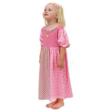 girls pink princess nightwear
